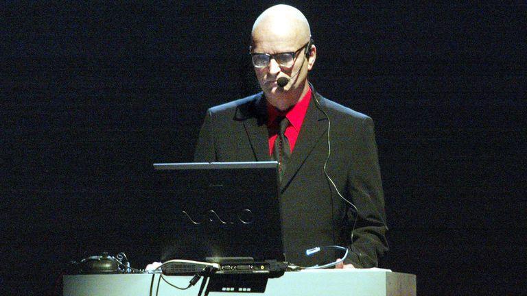Florian Schneider performing with Kraftwerk in 2004. Pic: Jaakonaho/Shutterstock