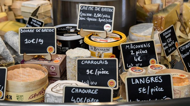 There is a surplus of cheese in France