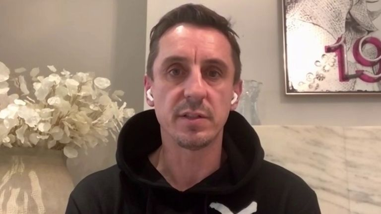 Gary Neville is not convinced that football should return yet