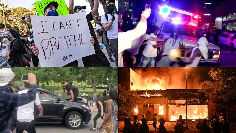 (Clockwise from top left) Los Angeles, Louisville, Minneapolis, Denver. Pics: Etienne Laurent/Shutterstock/Reuters