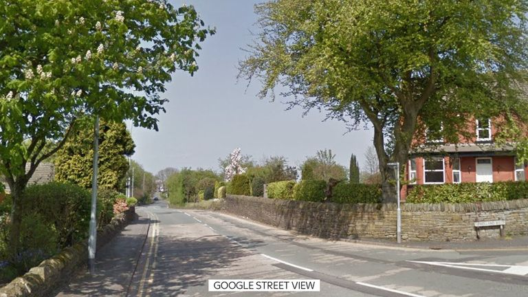 Melissa Belshaw was attacked on  Upholland Road in Billinge. Google Street View