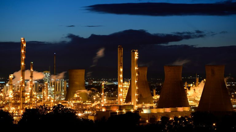 A general view of the Grangemouth oil refinery in east Scotland October 23, 2013