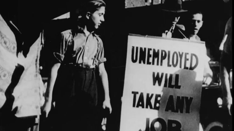 US unemployment hit record highs in during the Great Depression