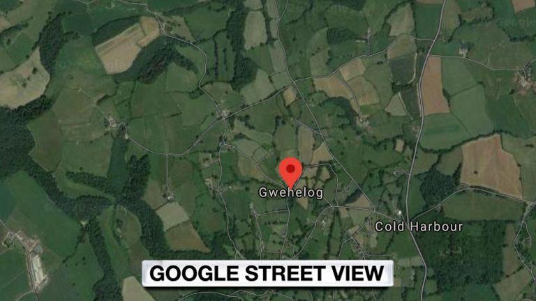 google maps gwehelog