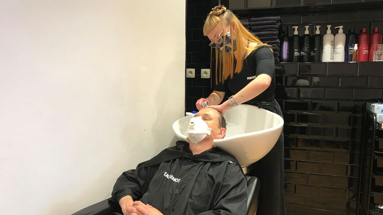 Getting your hair washed is certainly more complicated than before, with mask elastics to contend with
