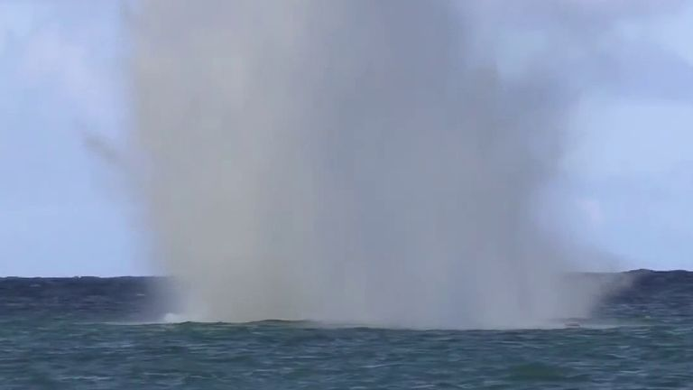 World War II explosives detonated at sea