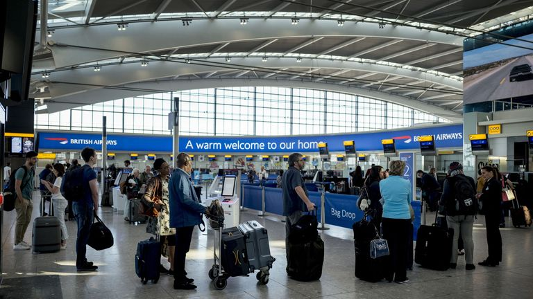 Queues at airports could be a kilometre-long if social distancing is implemented, Heathrow's boss said
