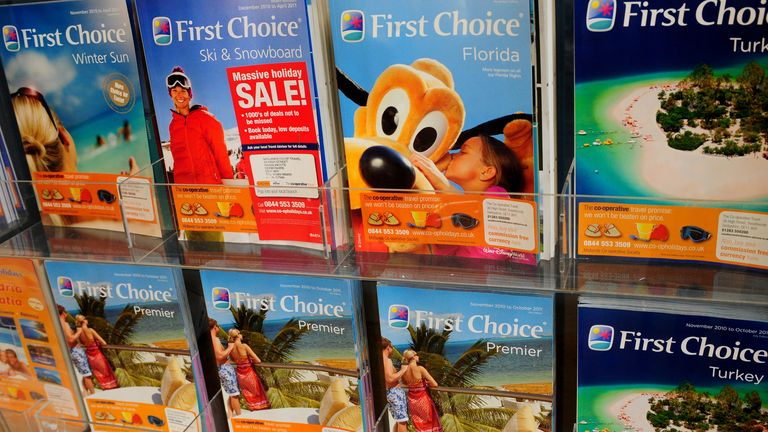 Generic view of holiday brochures.