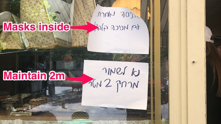 Restaurants have opened in Jerusalem using social distancing measures