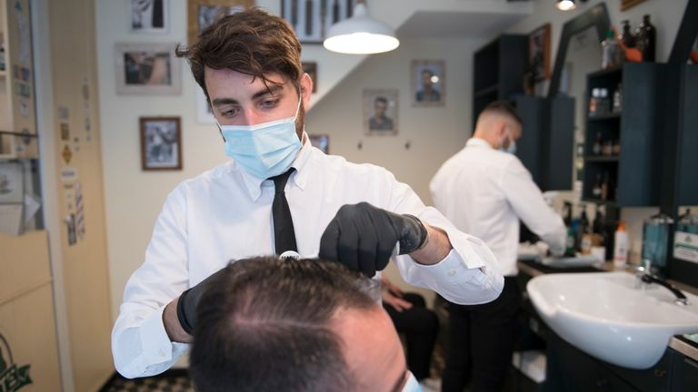 Hairdressers have reopened in Italy