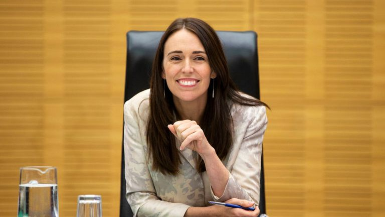 WELLINGTON, NEW ZEALAND - JANUARY 29: Prime Minister Jacinda Ardern speaks to media during a cabinet meeting at Parliament on January 29, 2019 in Wellington, New Zealand. (Photo by Hagen Hopkins/Getty Images)