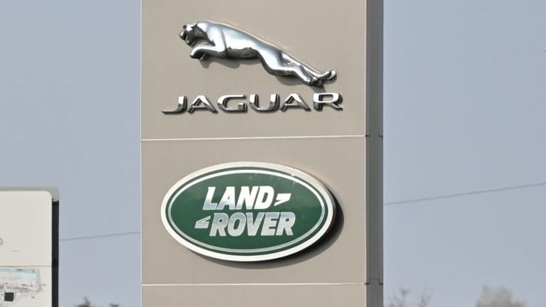 The closed Jaguar-Land Rover production plant is seen in Solihull