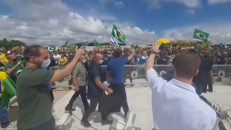 Brazil's right-wing president Jair Bolsonaro