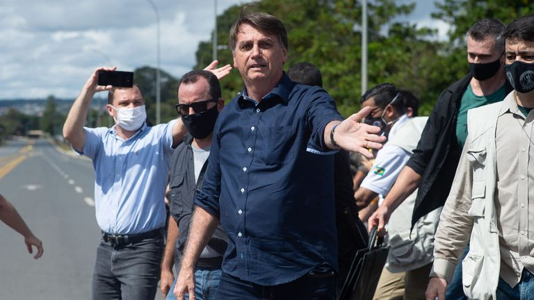 Brazilian President Jair Bolsonaro is leader of a country that now has the second highest number of COVID-19 cases in the world