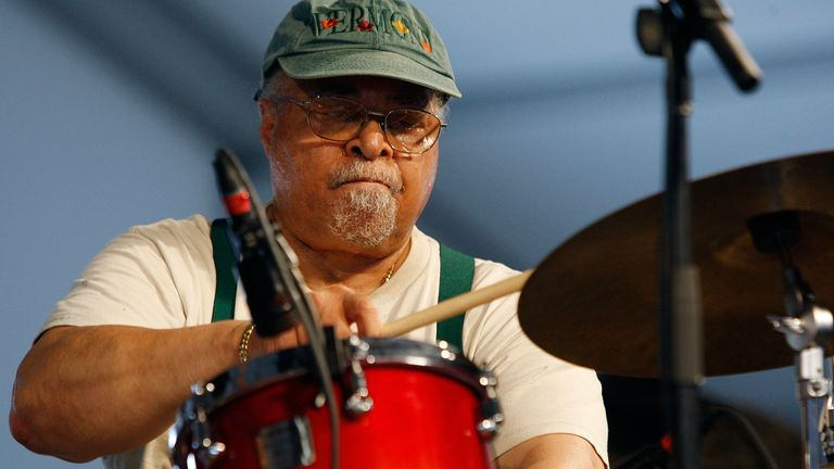 Jimmy Cobb in the 2009 New Orleans Jazz & Heritage Festival at the Fair Grounds Race Course on May 2, 2009 in New Orleans
