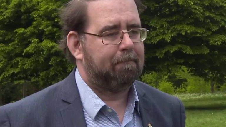 Birmingham City councillor explains social distancing grass in park