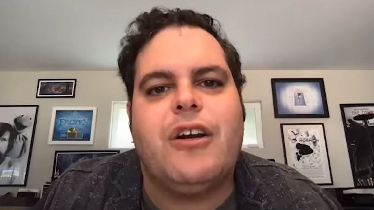 Josh Gad has chosen Lord Of The Rings for his next lockdown reunion. Pic: Josh Gad/ YouTube