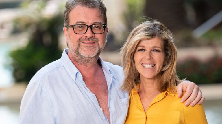 I'm a Celebrity... Get Me Out of Here! TV Show, Kate Garraway at the Versace Hotel, Series 19, Australia - 08 Dec 2019 - with husband Derek Draper. Pic: James Gourley/ITV/Shutterstock
