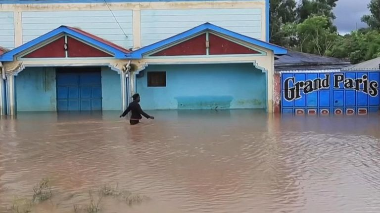 Heavy rainfall has led to flooding and landslides across the region.