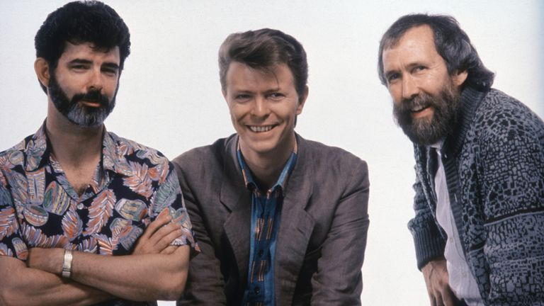 George Lucas, David Bowie, Jim Henson. Pic: Jim Henson Productions/Kobal/Shutterstock