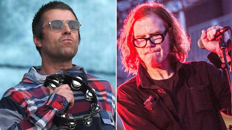 Liam Gallagher and Mark Lanegan. Pics: Anthony Harvey/Roberto Finizio/Shutterstock