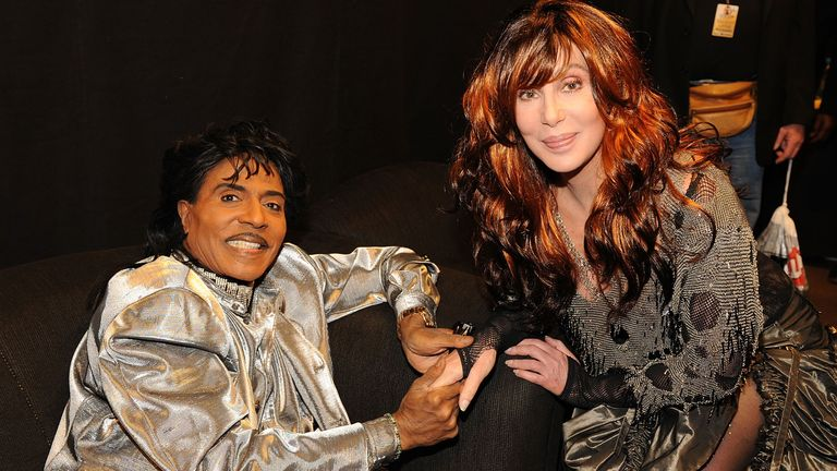Musician Little Richard and singer Cher at the 50th Annual GRAMMY Awards at the Staples Center on February 10, 2008 in Los Angeles, California