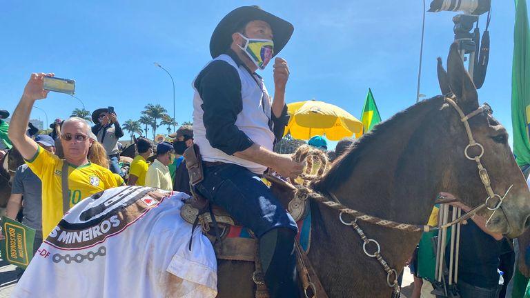 Pro-Bolsonaro rally today in Brasilia