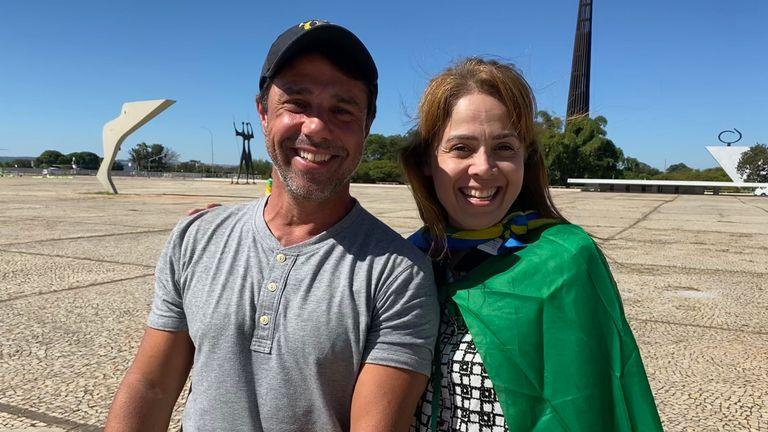 Pro-Bolsonaro rally today in Brasilia - Odair and Suzyanne