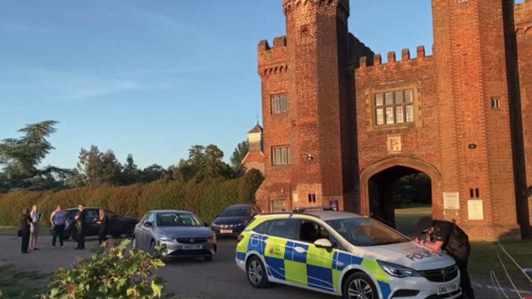 The incident happened at Lullingstone Castle, Eynsford