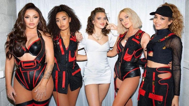 Singer Mae Muller on tour with Little Mix
