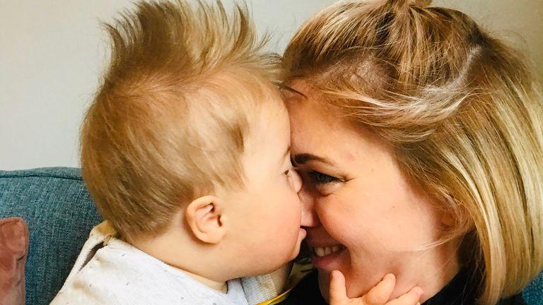 Máire Lea-Wilson with her 11-month-old son Aidan