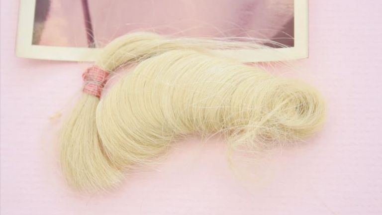A lock of Marilyn Monroe's hair is being sold for £250,000. Pic: Paul Fraser Collectibles