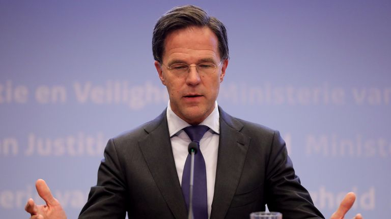 Prime Minister of the Netherlands Mark Rutte lost his mother yesterday but was unable to say goodbye