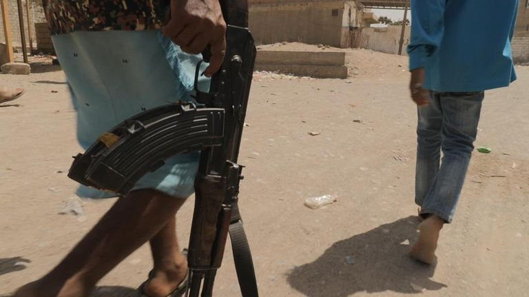 Yemen, generic picture of rebel with rifle