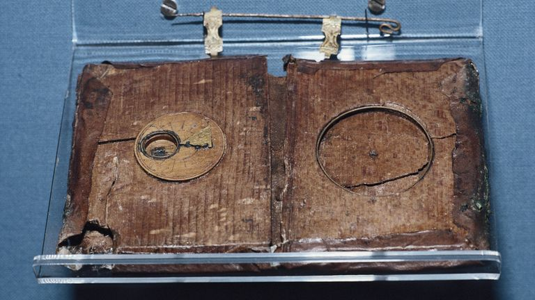 A compass case which was salvaged from the wreck of the Mary Rose warship