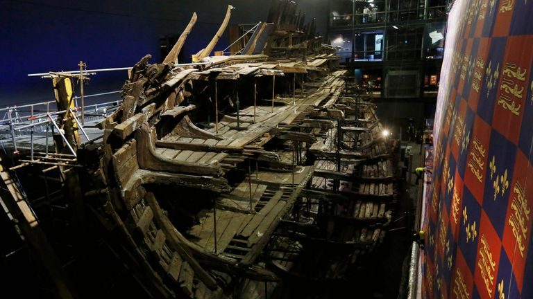 Henry VIII's warship sits pride of place in the Mary Rose museum