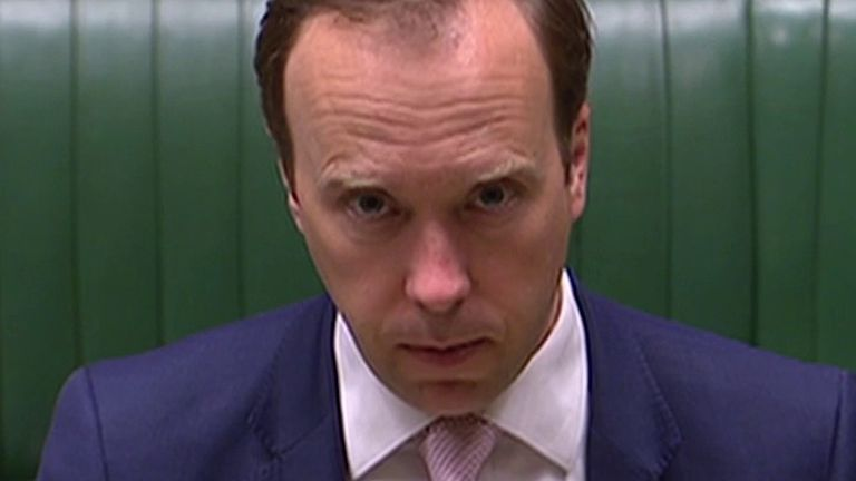 Matt Hancock responds to urgent question in the Commons about care homes