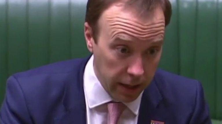 Matt Hancock admonishes shadow mental health minister for her 'tone'