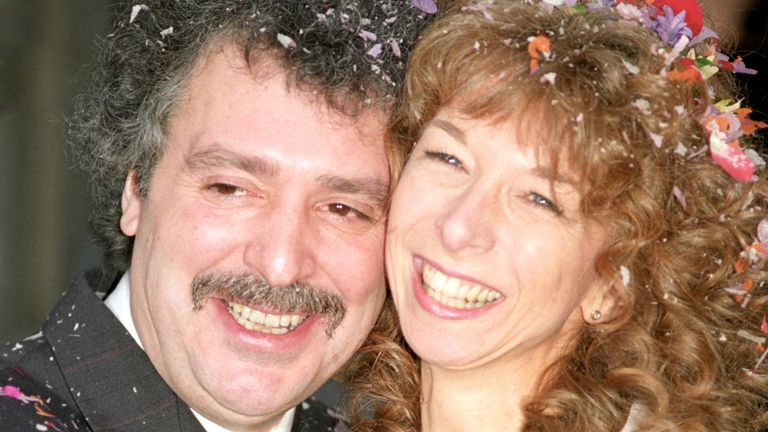 Michael Angelis was previously married to Coronation Street star Helen Worth