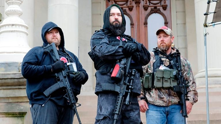 Armed protest