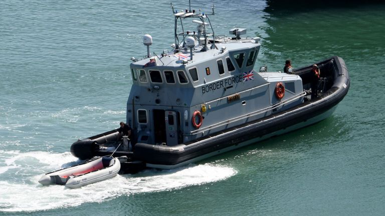 A Border Force Agency boat intercepted the boats and rescued the 90 migrants