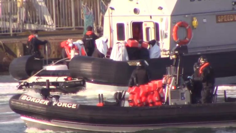 Migrants intercepted at Dover