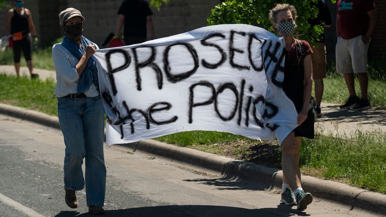 Tensions rose as police left the preccinct