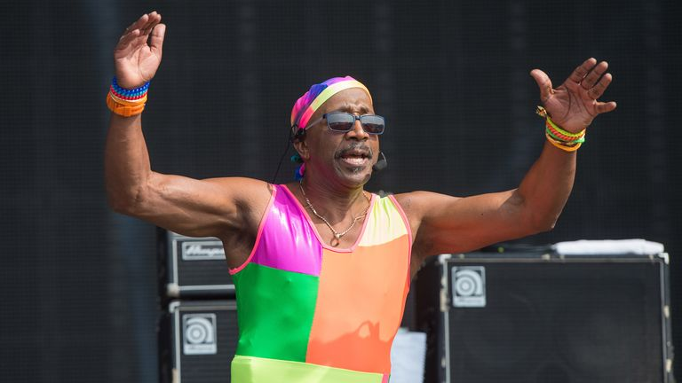 Mr Motivator warms up the mainstage crowd on Day 4 of Bestival at Robin Hill Country Park in Newport, Isle of Wight