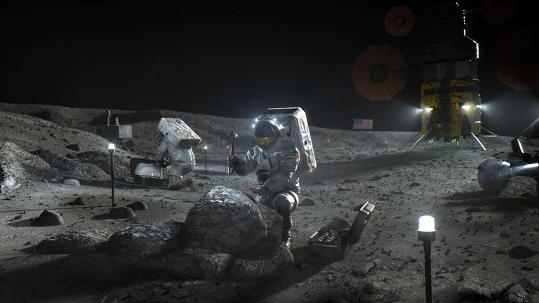 NASA's new Artemis mission will return the space agency to the moon. Pic: NASA