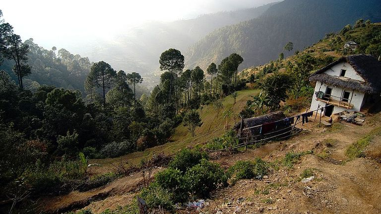 A view of the mountainous Rolpa district