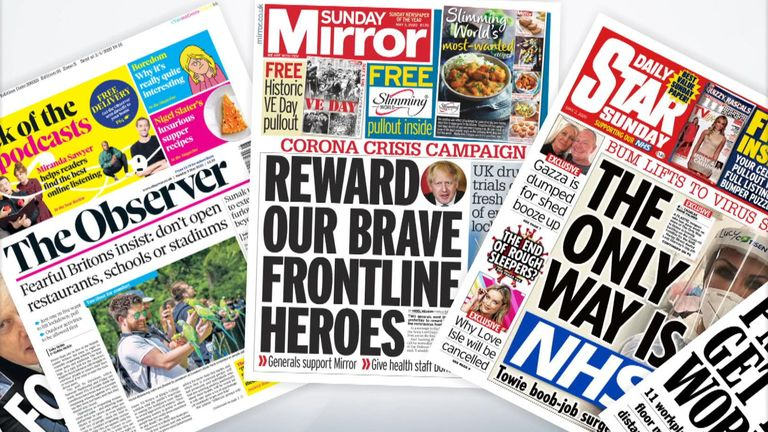 Sunday frontpages