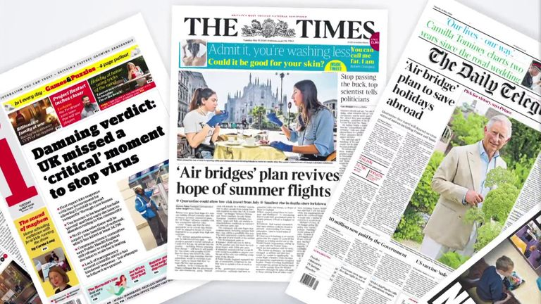 Tuesday's newspaper front pages