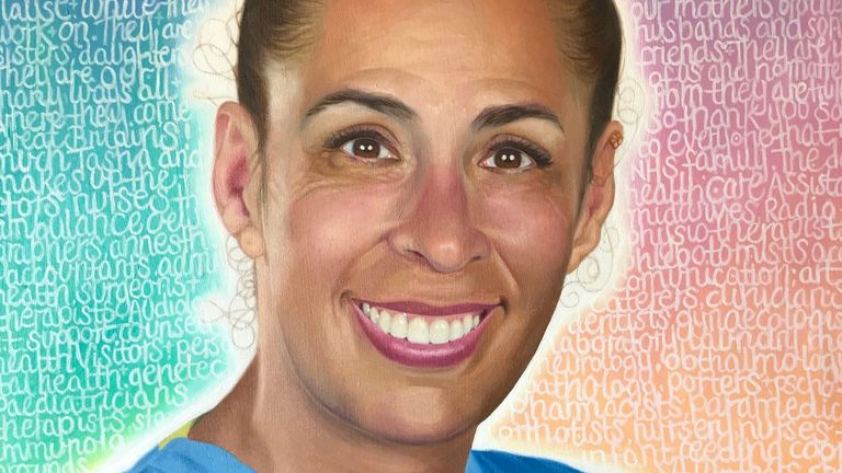 Tasha Rainsley by Ian Goldsmith, for the NHS Heroes virtual exhibition