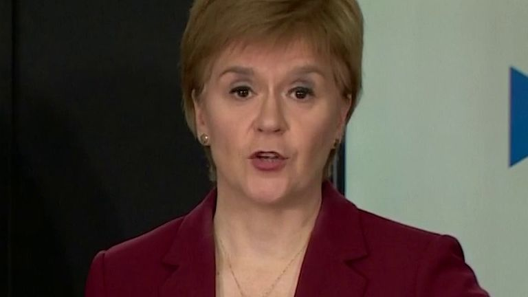 Nicola Sturgeon says she hasn't heard from Boris Johnson yet as to what his plans are to ease the lockdown